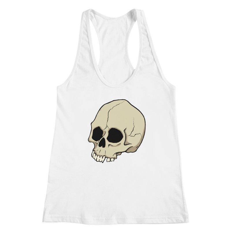 Skull Women's Racerback Tank by RichRogersArt