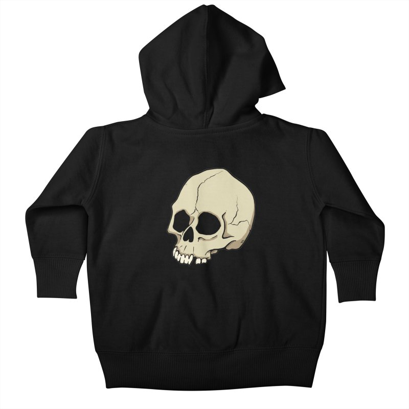 Skull Kids Baby Zip-Up Hoody by RichRogersArt