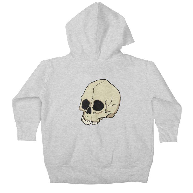 Skull Kids Baby Zip-Up Hoody by RichRogersArt