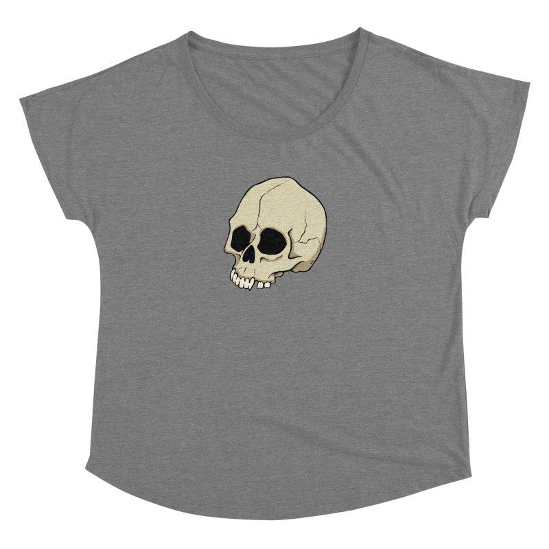 Skull Women's Dolman Scoop Neck by RichRogersArt