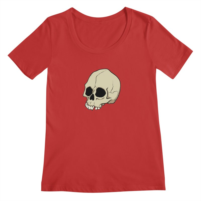 Skull Women's Regular Scoop Neck by RichRogersArt