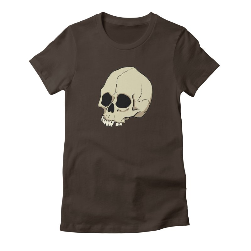 Skull Women's Fitted T-Shirt by RichRogersArt