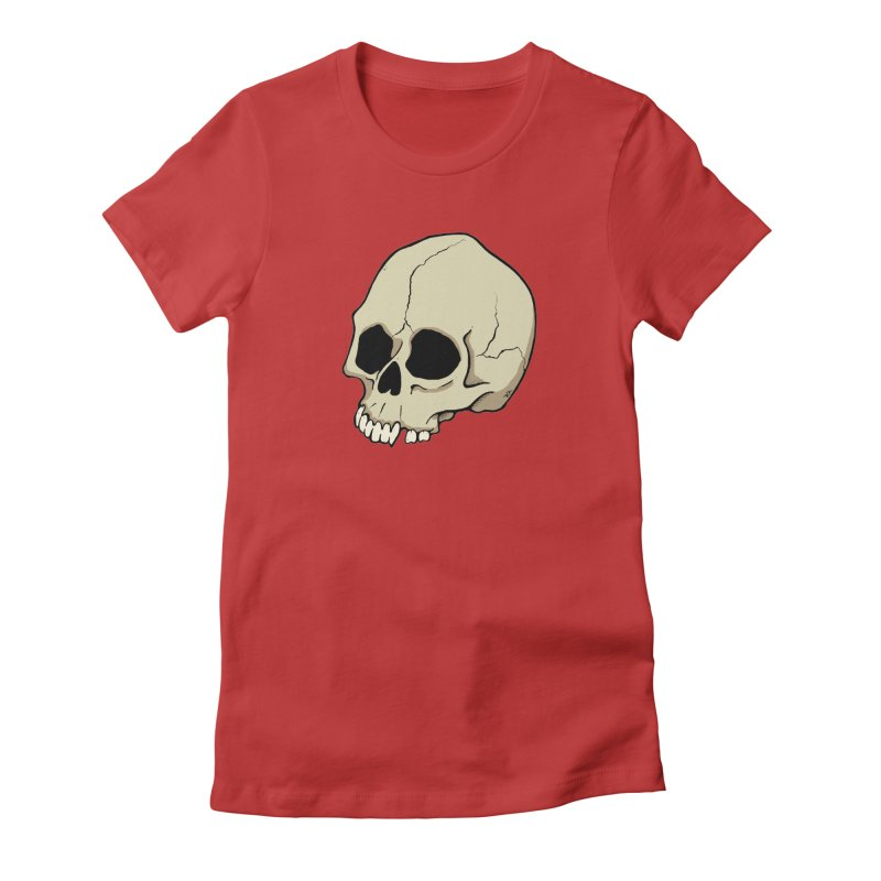 Skull Women's T-Shirt by RichRogersArt