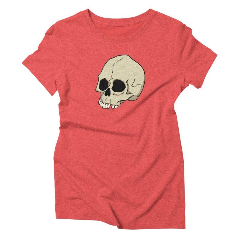 Skull Women's Triblend T-Shirt by RichRogersArt