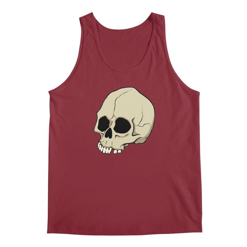 Skull Men's Regular Tank by RichRogersArt