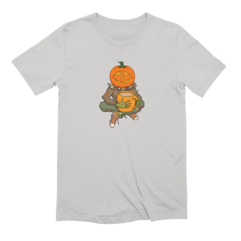 Pumpkin Spice Men's Extra Soft T-Shirt by RichRogersArt