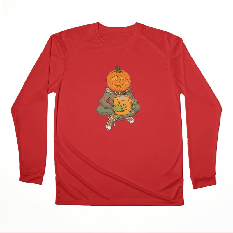 Pumpkin Spice Men's Performance Longsleeve T-Shirt by RichRogersArt