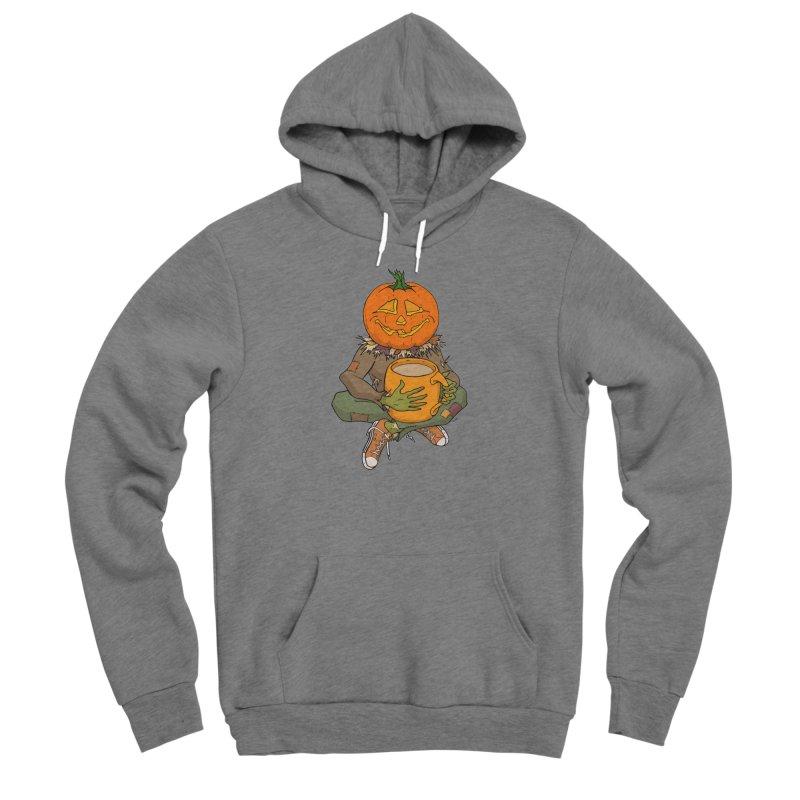 Pumpkin Spice Men's Sponge Fleece Pullover Hoody by RichRogersArt