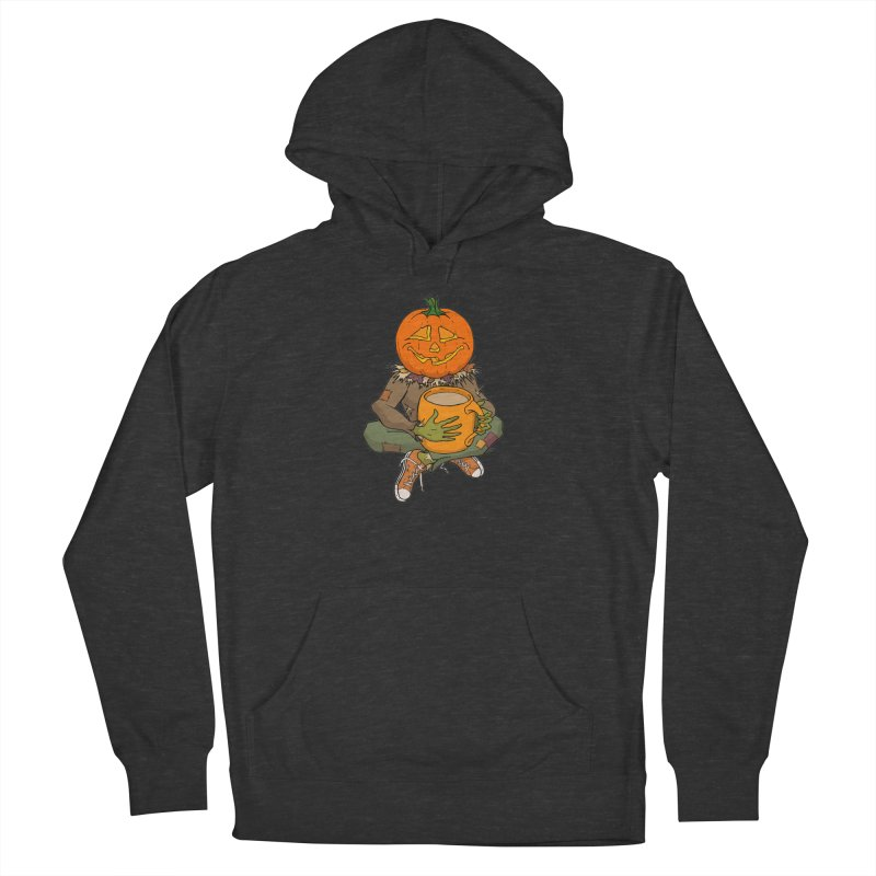 Pumpkin Spice Men's French Terry Pullover Hoody by RichRogersArt
