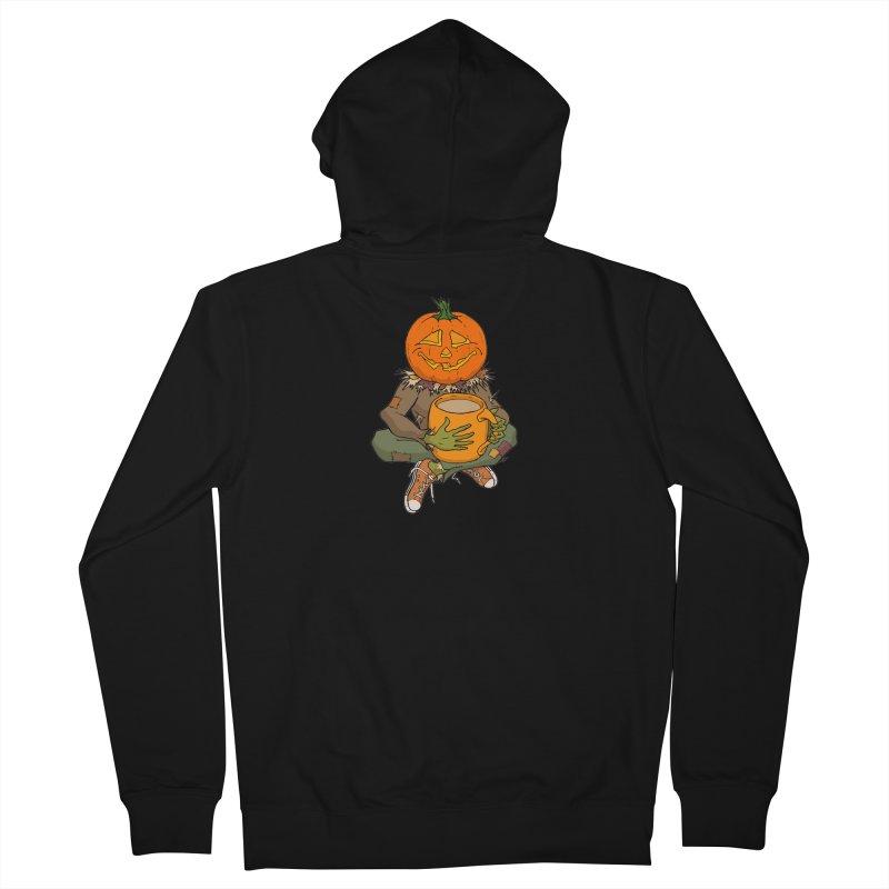 Pumpkin Spice Men's French Terry Zip-Up Hoody by RichRogersArt