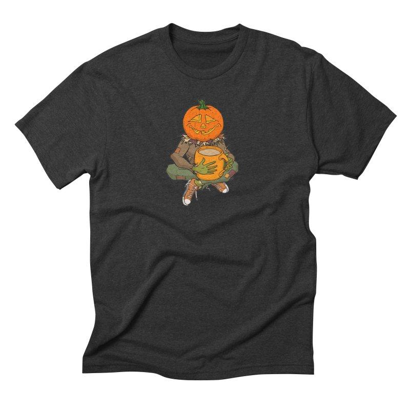 Pumpkin Spice Men's Triblend T-Shirt by RichRogersArt