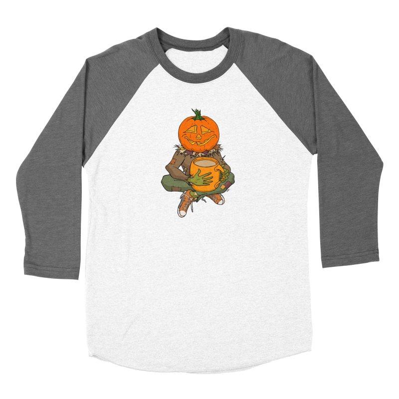 Pumpkin Spice Women's Baseball Triblend Longsleeve T-Shirt by RichRogersArt