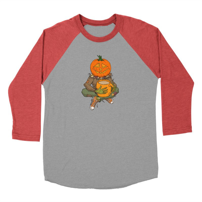 Pumpkin Spice Men's Baseball Triblend Longsleeve T-Shirt by RichRogersArt