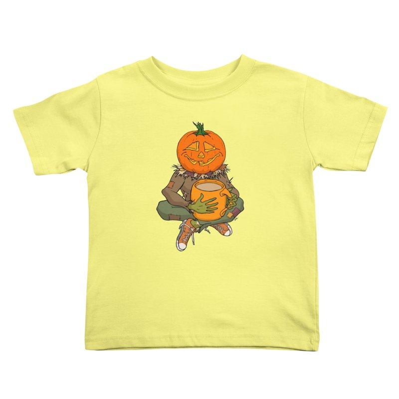 Pumpkin Spice Kids Toddler T-Shirt by RichRogersArt