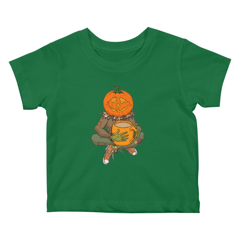 Pumpkin Spice Kids Baby T-Shirt by RichRogersArt