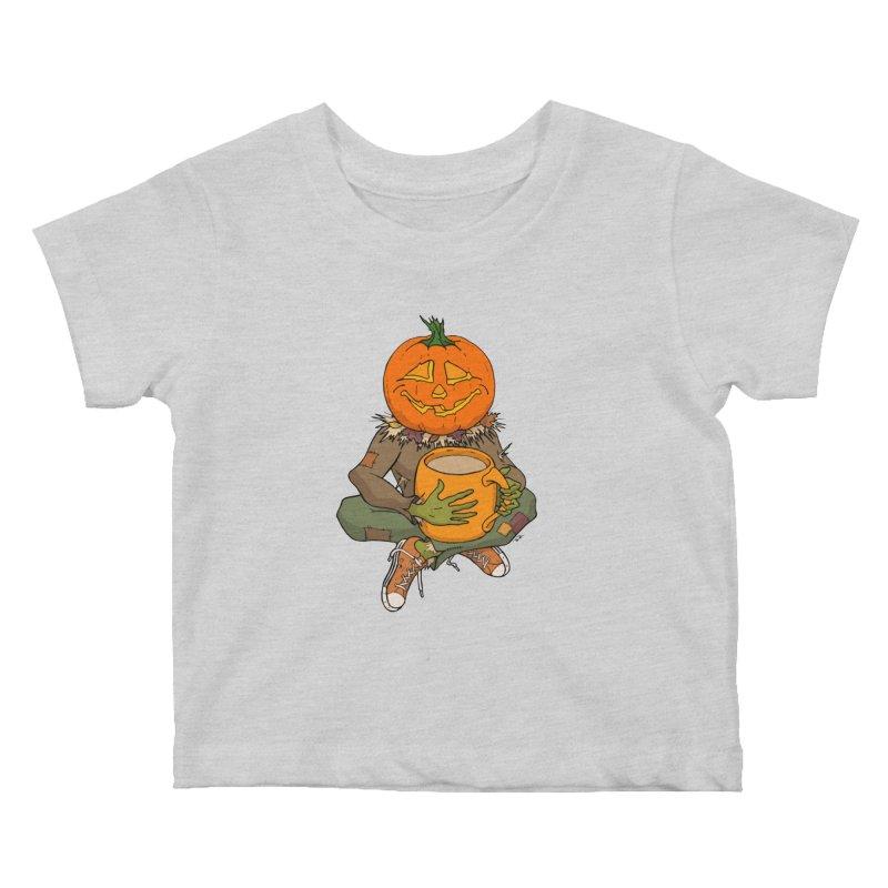 Pumpkin Spice Kids Baby T-Shirt by RichRogersArt