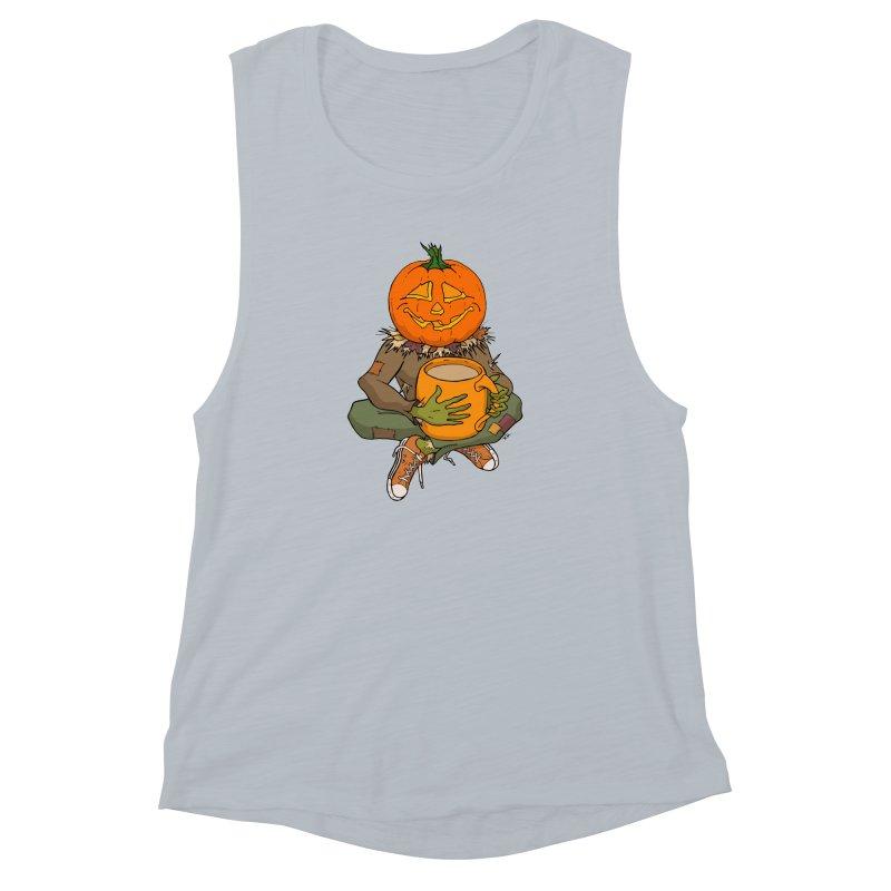 Pumpkin Spice Women's Muscle Tank by RichRogersArt