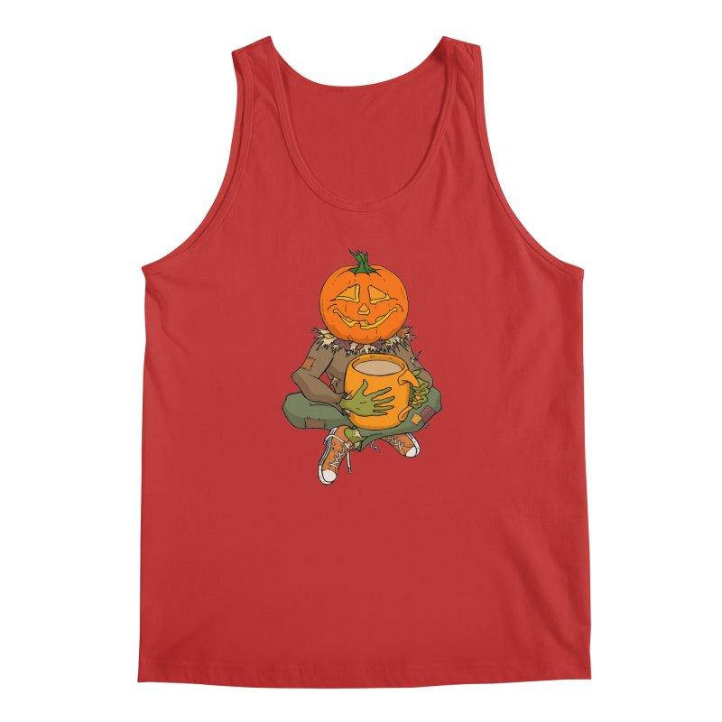 Pumpkin Spice Men's Regular Tank by RichRogersArt