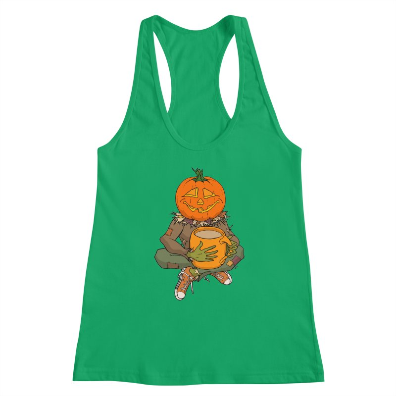 Pumpkin Spice Women's Racerback Tank by RichRogersArt