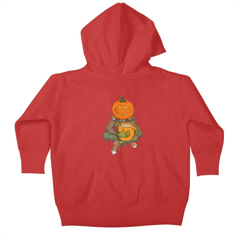 Pumpkin Spice Kids Baby Zip-Up Hoody by RichRogersArt