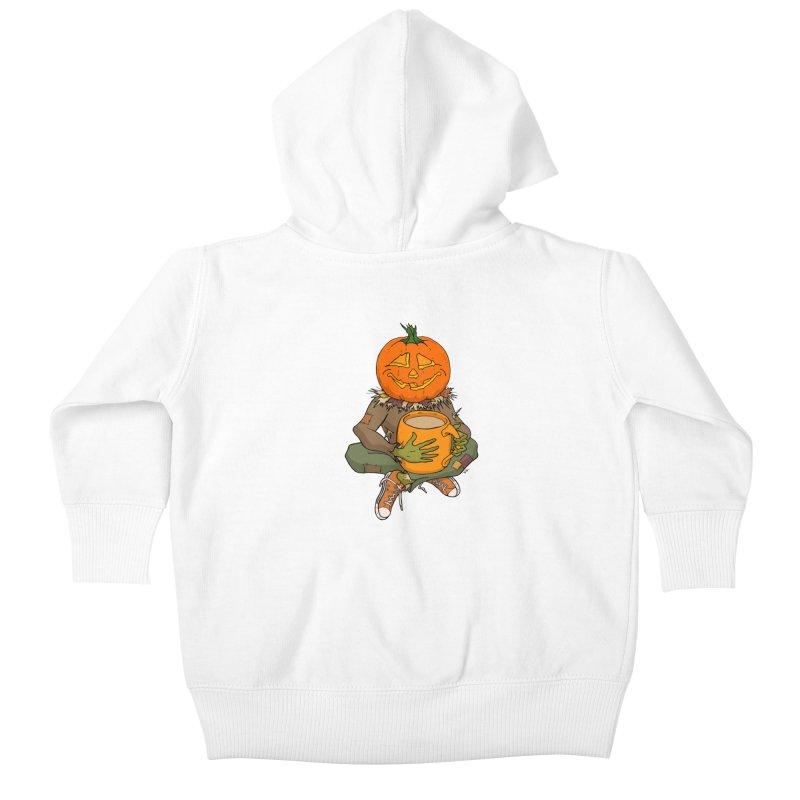 Pumpkin Spice Kids Baby Zip-Up Hoody by RichRogersArt