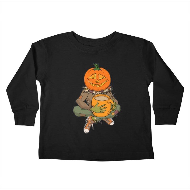 Pumpkin Spice Kids Toddler Longsleeve T-Shirt by RichRogersArt