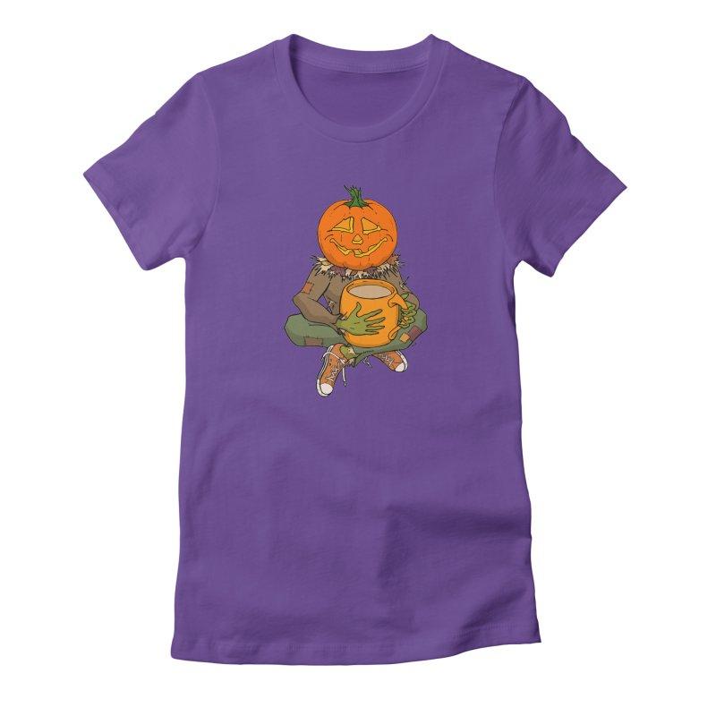Pumpkin Spice Women's Fitted T-Shirt by RichRogersArt