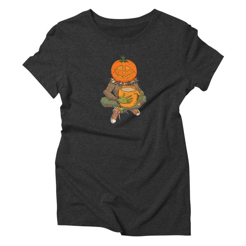 Pumpkin Spice Women's Triblend T-Shirt by RichRogersArt