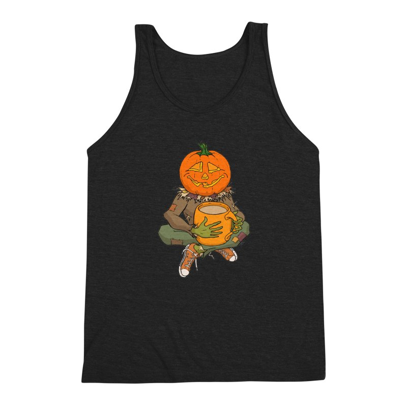 Pumpkin Spice Men's Triblend Tank by RichRogersArt