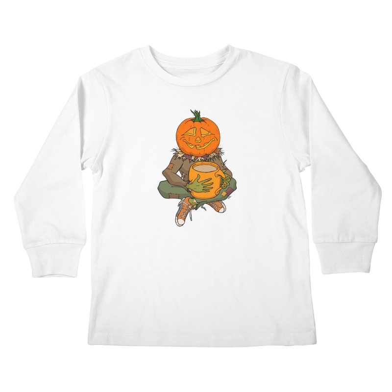 Pumpkin Spice Kids Longsleeve T-Shirt by RichRogersArt