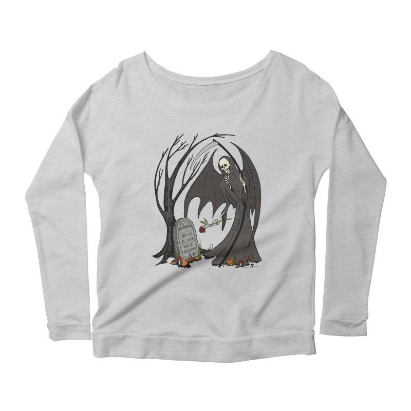All Alone Women's Scoop Neck Longsleeve T-Shirt by RichRogersArt