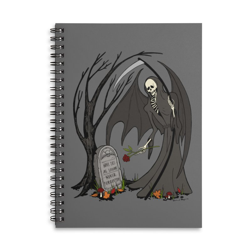 All Alone Accessories Lined Spiral Notebook by RichRogersArt