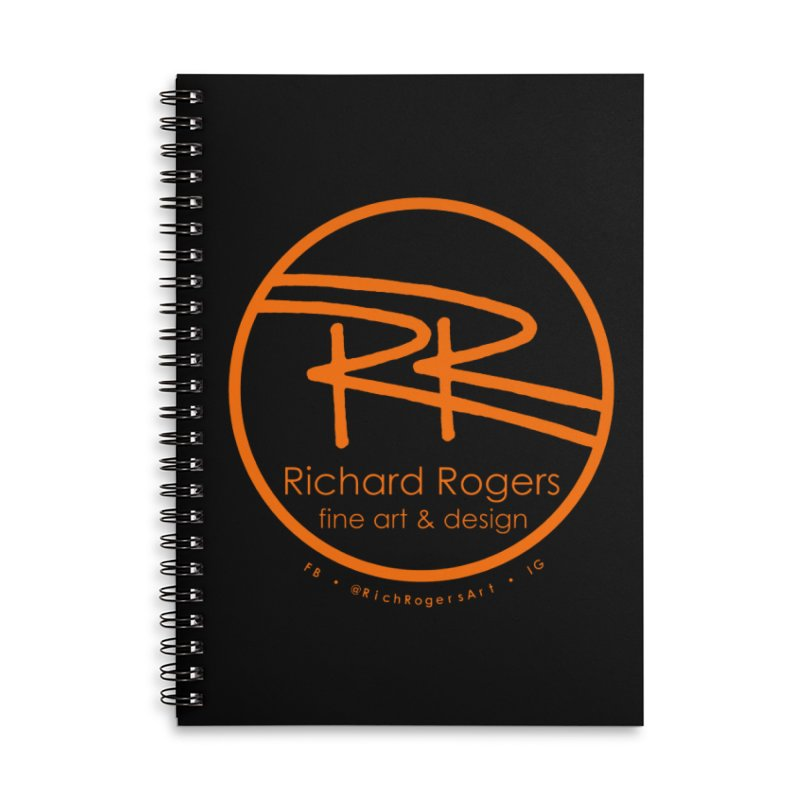 Richard Rogers Fine Art Accessories Lined Spiral Notebook by RichRogersArt