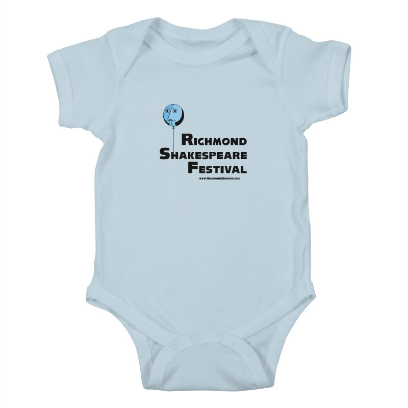 RSF Shakespeare Balloon Logo in Kids Baby Bodysuit Baby Blue by Richmond Shakespeare Festival' s Artist Shop
