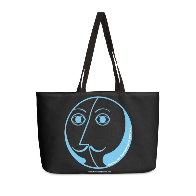 Basic Baby Blue RSF Logo in Weekender Bag by Richmond Shakespeare Festival' s Artist Shop