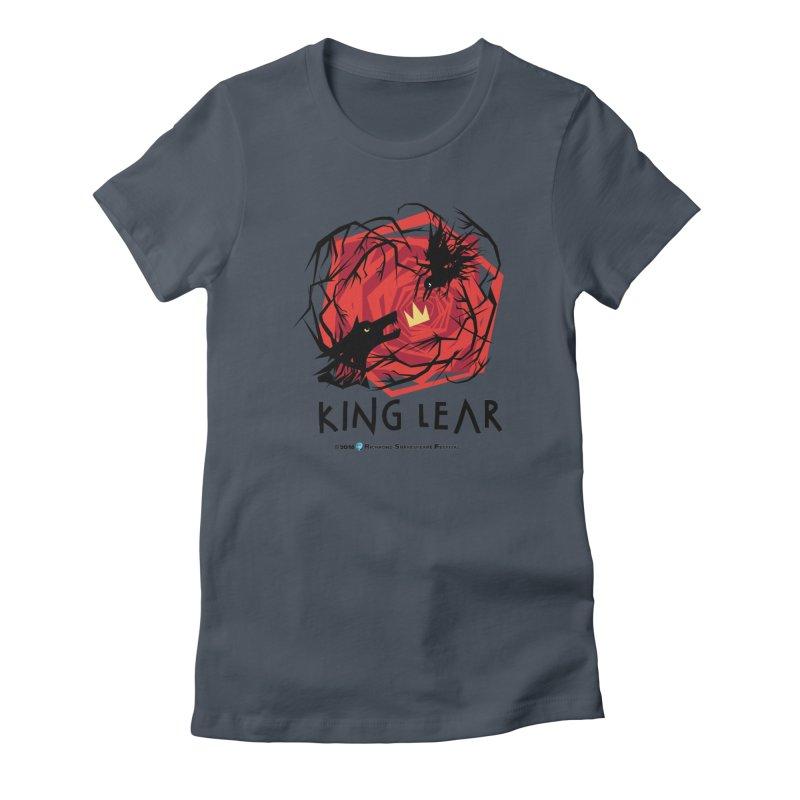 King Lear in Women's Fitted T-Shirt Denim by Richmond Shakespeare Festival' s Artist Shop