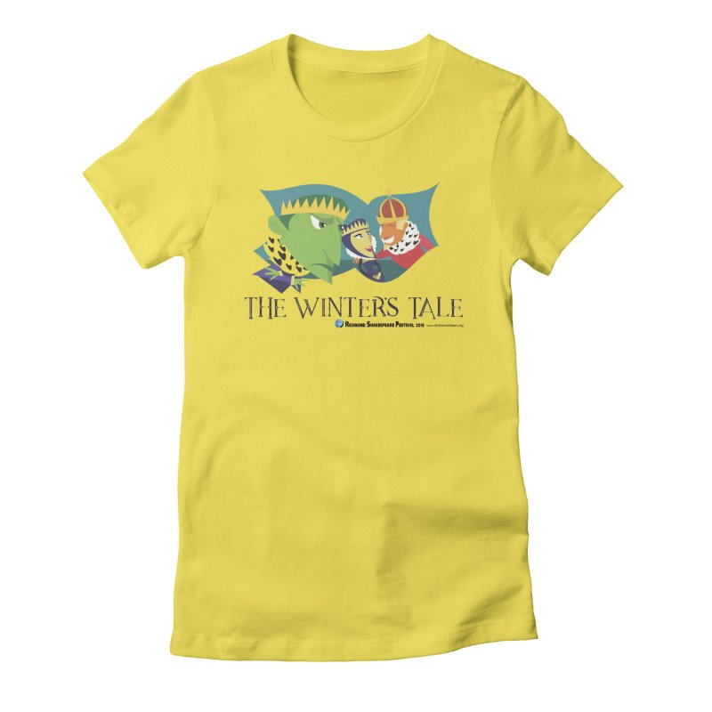 The Winters Tale in Women's Fitted T-Shirt Vibrant Yellow by Richmond Shakespeare Festival' s Artist Shop