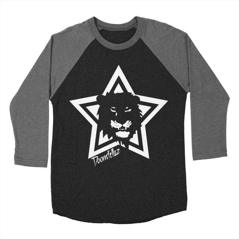Doomfellaz Lion Star Men's Baseball Triblend T-Shirt by Ricksans's Artist Shop