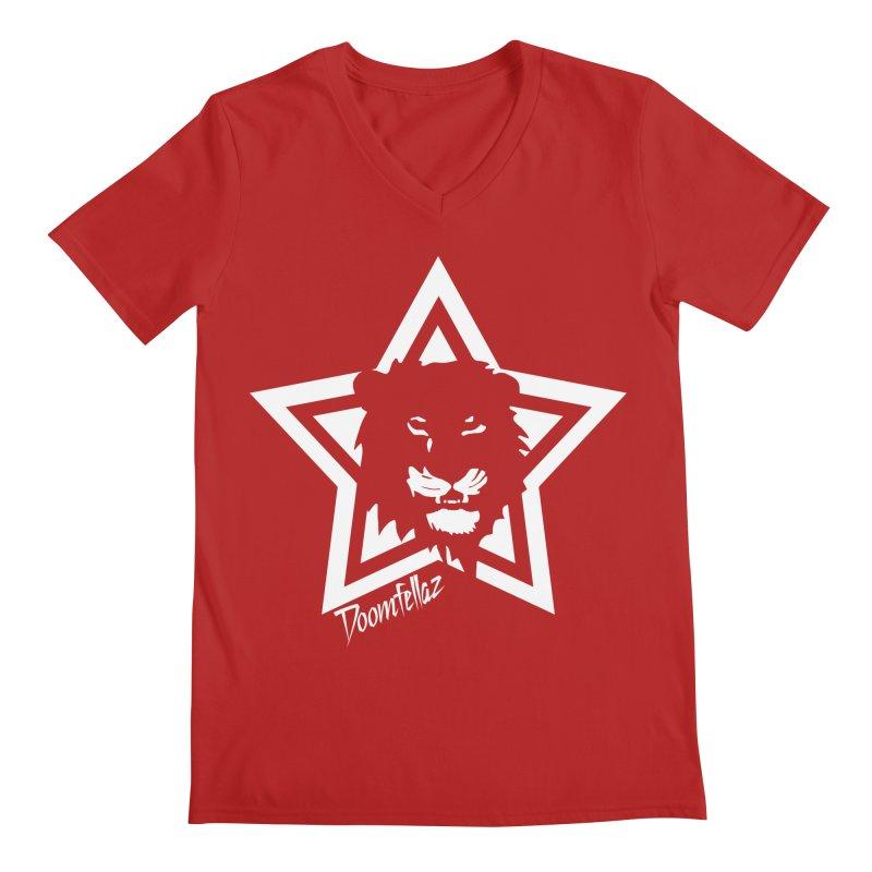Doomfellaz Lion Star Men's V-Neck by Ricksans's Artist Shop