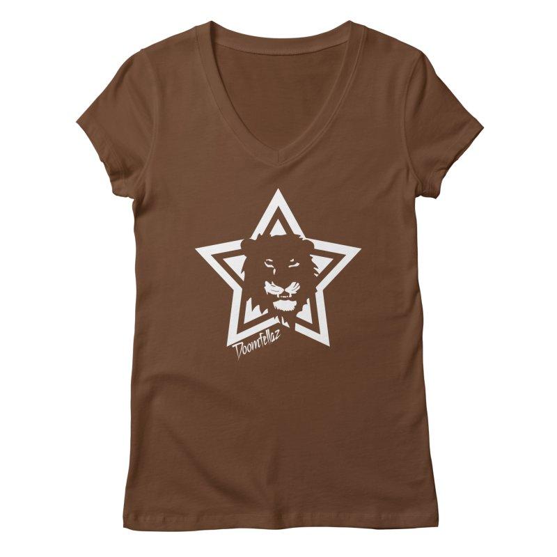 Doomfellaz Lion Star Women's V-Neck by Ricksans's Artist Shop