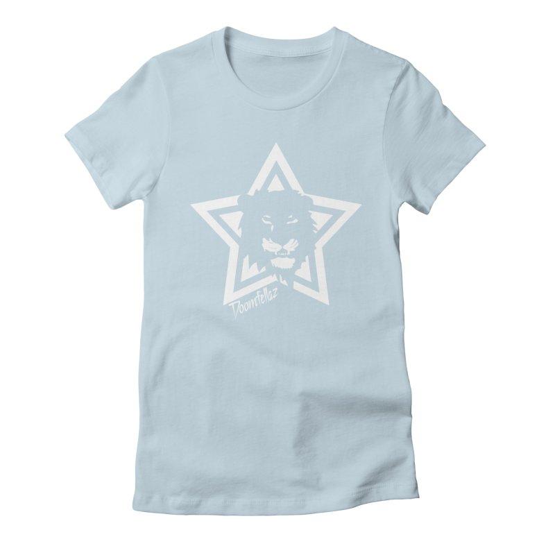 Doomfellaz Lion Star Women's Fitted T-Shirt by Ricksans's Artist Shop