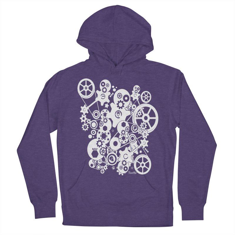Doomfellaz Steampunk Gears (light) Men's Pullover Hoody by Ricksans's Artist Shop