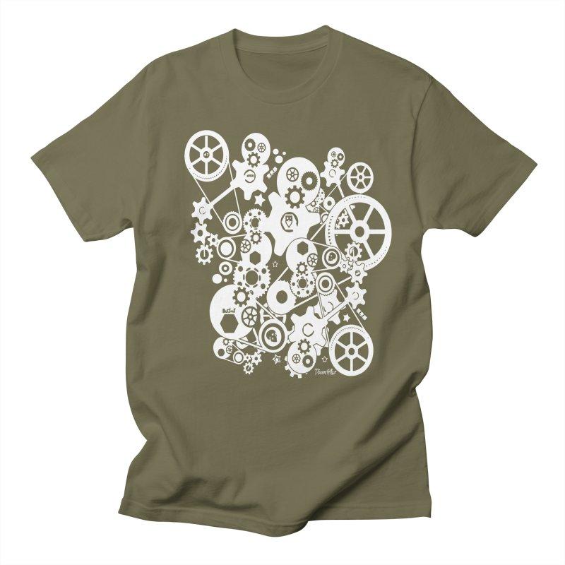 Doomfellaz Steampunk Gears (light) Men's T-shirt by Ricksans's Artist Shop