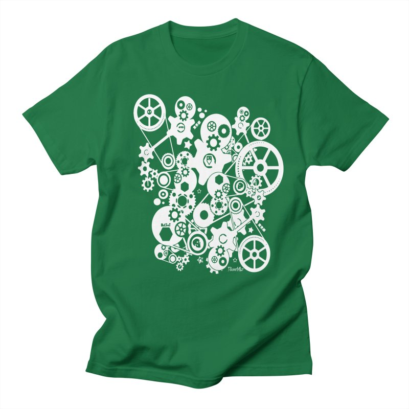 Doomfellaz Steampunk Gears (light) Men's T-shirt by Ricksans's Artist Shop