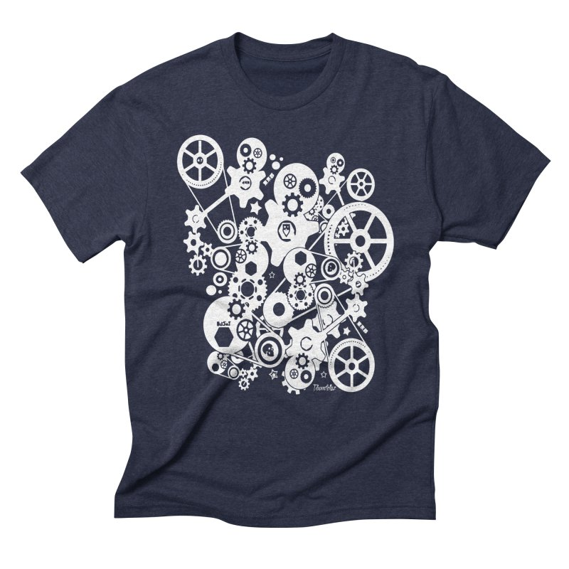 Doomfellaz Steampunk Gears (light) Men's Triblend T-shirt by Ricksans's Artist Shop