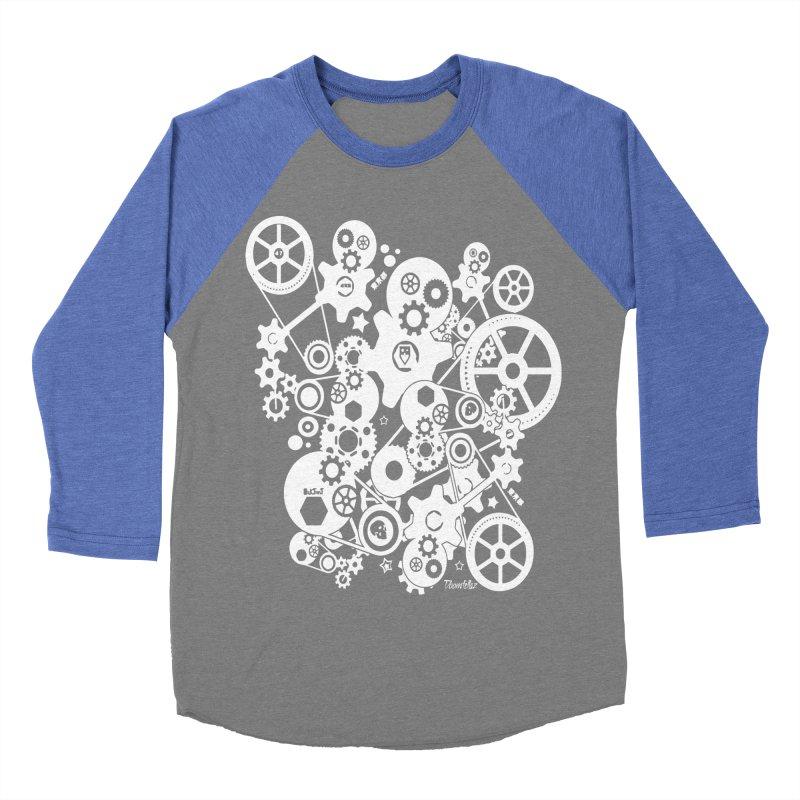 Doomfellaz Steampunk Gears (light) Women's Baseball Triblend T-Shirt by Ricksans's Artist Shop