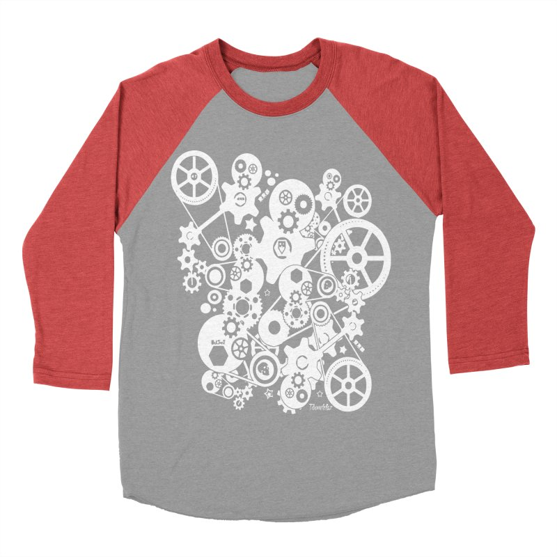 Doomfellaz Steampunk Gears (light) Men's Baseball Triblend T-Shirt by Ricksans's Artist Shop