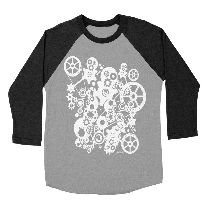 Doomfellaz Steampunk Gears (light) Men's Baseball Triblend T-Shirt by Ricksans's Artist Shop