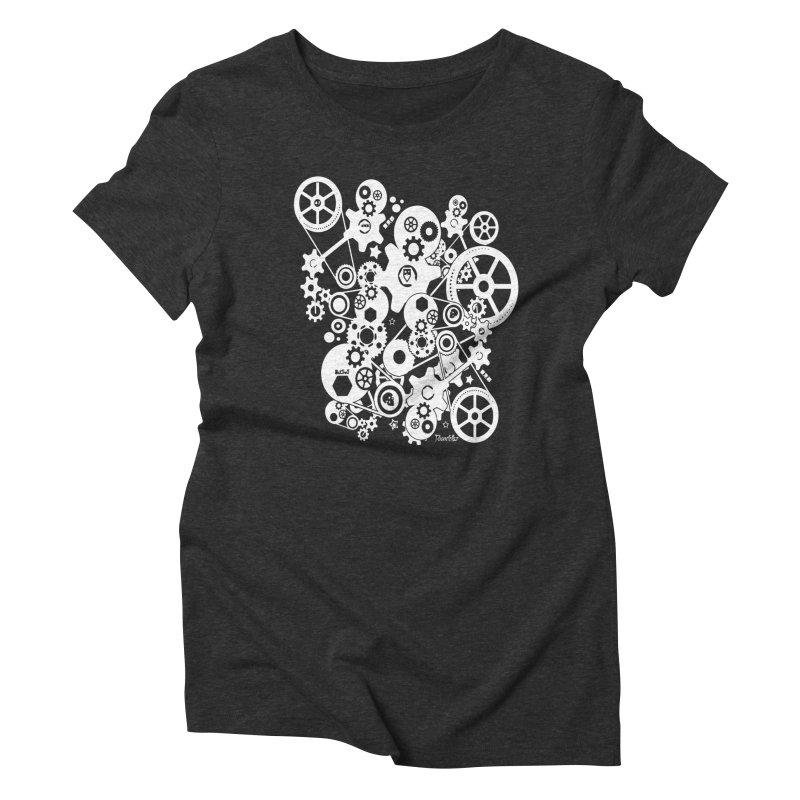 Doomfellaz Steampunk Gears (light) Women's Triblend T-shirt by Ricksans's Artist Shop