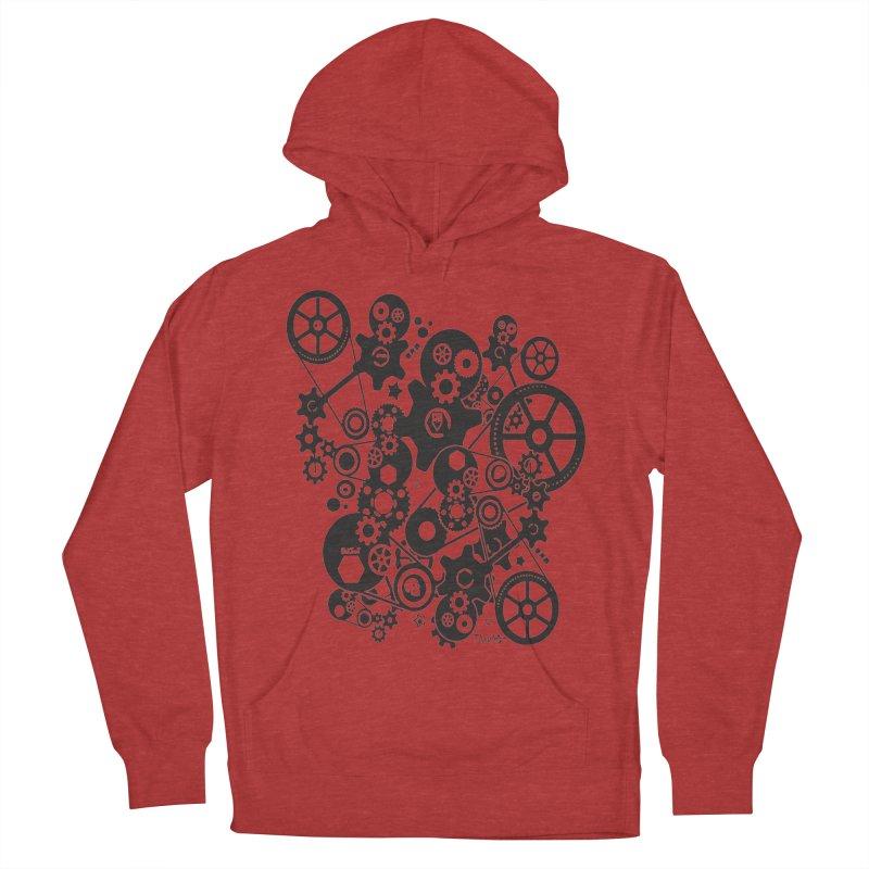 Doomfellaz Steampunk Gears (dark) Women's Pullover Hoody by Ricksans's Artist Shop